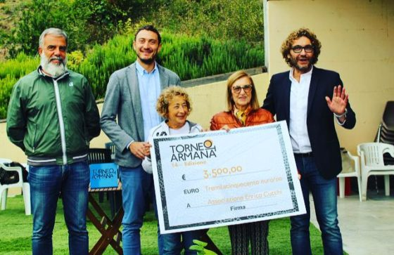 Torneo Armana 2018 dona 3500 euro alla Associazione Cucchi
