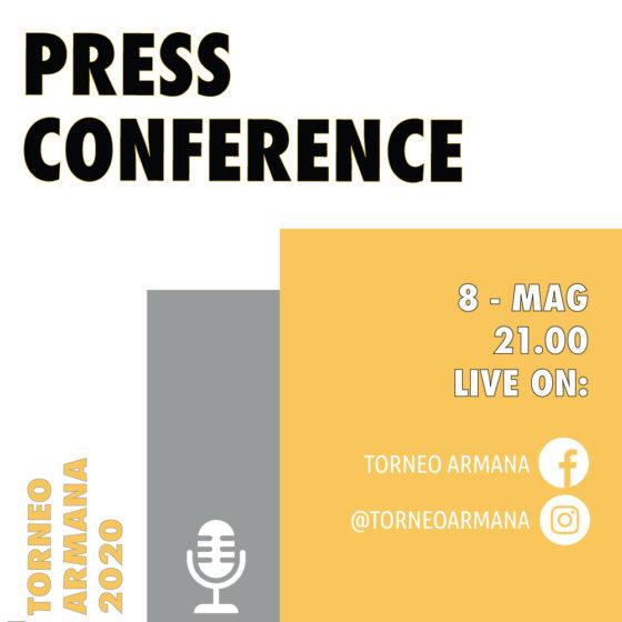 Partecipa alla Conferenza Stampa per il Torneo Armana 2020
