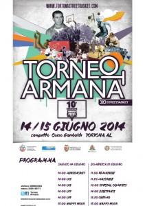 Locandina della decima edizione del Torneo Armana